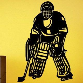 Samolepka na zeď Hokejista 0596 - 60x87 cm