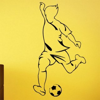 Samolepka na stěnu Fotbalista 0585 - 120x216 cm