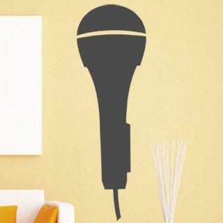 Samolepka na zeď Mikrofon 001 - 39x120 cm