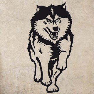 Nálepka na zeď Husky 001 - 120x232 cm