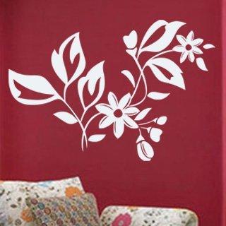 Samolepka na zeď Ornamenty z rostlin 037 - 89x60 cm