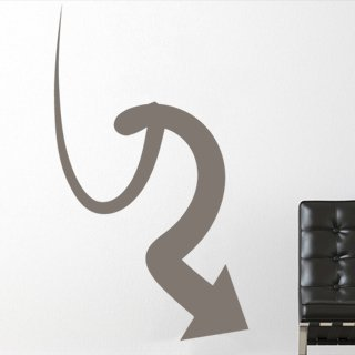 Nálepka na zeď Šipka 031 - 100x174 cm