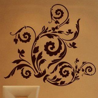 Samolepící dekorace Ornamenty z rostlin 010 - 120x108 cm