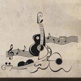 Samolepící dekorace Kytara 011 - 127x100 cm