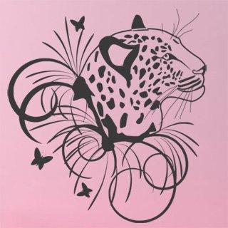 Nálepka na zeď Leopard 003 - 120x130 cm