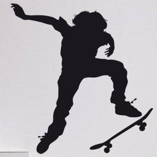 Samolepka na zeď Skateboardista 002 - 60x64 cm