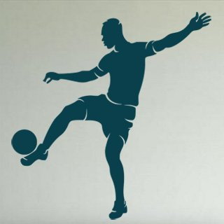 Samolepka Fotbalista 020 - 80x83 cm