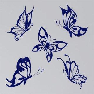 Samolepící dekorace Sada motýlů 002 - 120x126 cm
