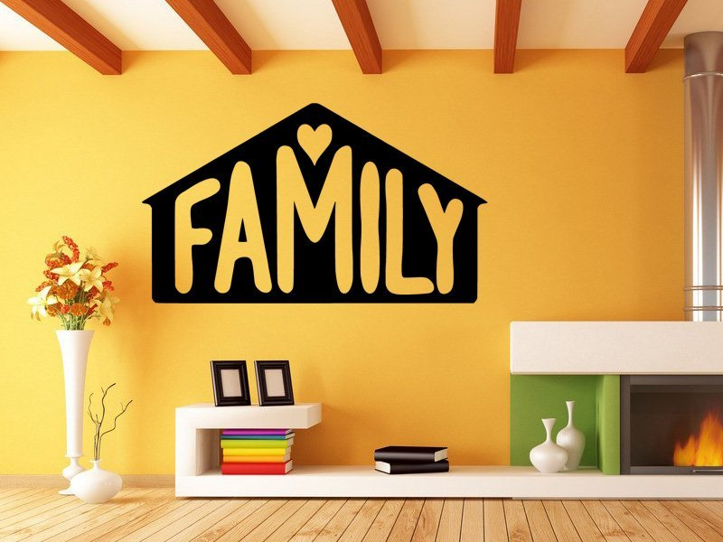 Samolepka na zeď Nápis Family 0656