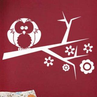 Samolepka Větev s ptáky 002 - 100x75 cm