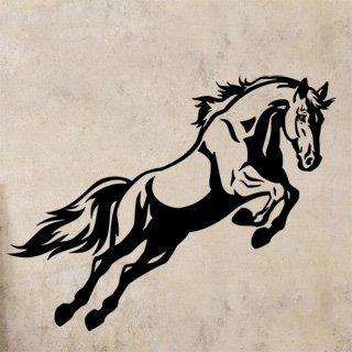 Samolepka na stěnu Kůň 0386 - 156x120 cm
