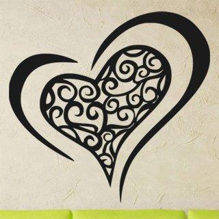 Samolepka na zeď Srdce 0259 - 64x60 cm
