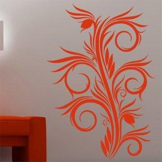 Samolepící dekorace Ornamenty z rostlin 031 - 85x120 cm