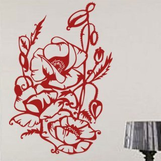 Samolepka na zeď Rostlina 017 - 60x89 cm