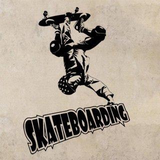 Samolepící dekorace Skateboardista 003 - 88x120 cm