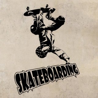 Samolepka na stěnu Skateboardista 003 - 120x165 cm