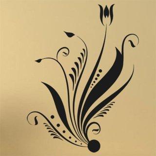 Samolepící dekorace Ornamenty z rostlin 002 - 100x134 cm