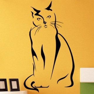 Samolepka Kočka 0430 - 66x120 cm