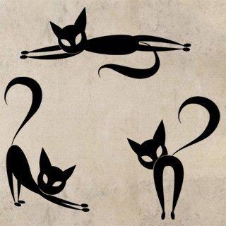 Samolepka Sada koček 0454 - 100x100 cm
