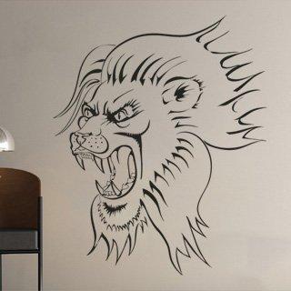 Samolepka na zeď Lev 002 - 60x74 cm