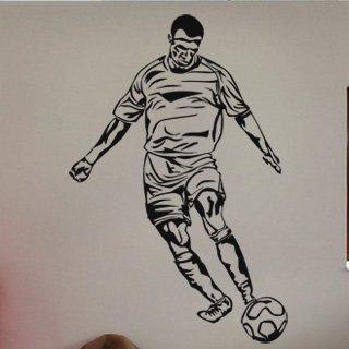 Nálepka na zeď Fotbalista 016 - 120x181 cm