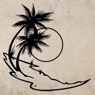 Samolepící dekorace Palmy 007 - 100x100 cm