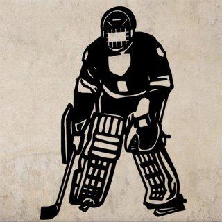 Samolepka na zeď Hokejista 003 - 60x88 cm