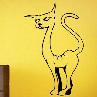 Samolepka na zeď Kočka 0429 - 60x95 cm