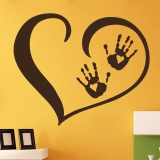 Samolepka Srdce s dlaněmi 001 - 122x100 cm