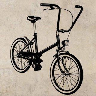 Samolepka Jízdní kolo 1050 - 120x151cm