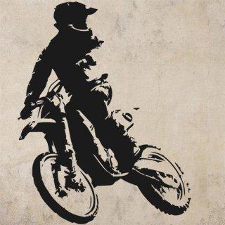 Nálepka na zeď Motorka 020 - 120x154 cm
