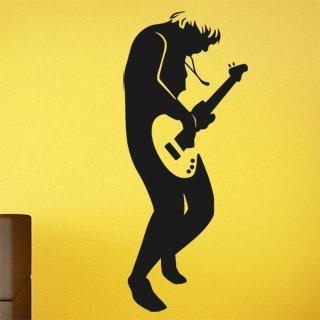 Samolepka na zeď Kytarista 008 - 50x120 cm