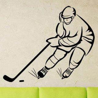 Samolepka na zeď Hokejista 0603 - 73x60 cm