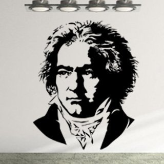 Samolepka na zeď Beethoven 001 - 60x74 cm