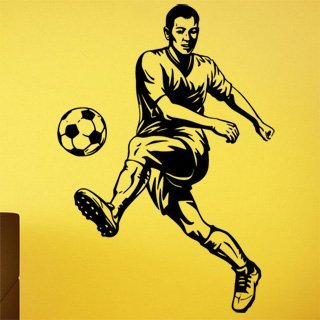 Samolepka na zeď Fotbalista 0577 - 60x86 cm