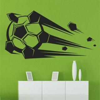 Nálepka na zeď Fotbalový míč 010 - 188x100 cm