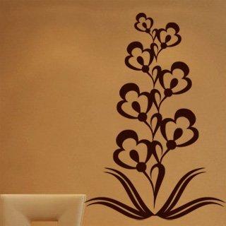 Samolepka na zeď Ornamenty z rostlin 020 - 60x88 cm