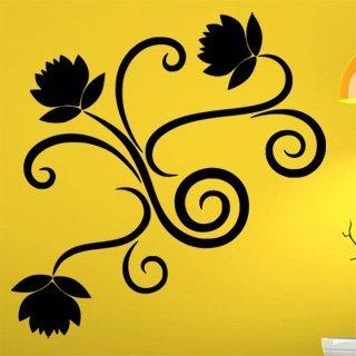 Samolepka na zeď Ornamenty z rostlin 019 - 79x80 cm