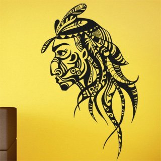 Nálepka na zeď Indián 0209 - 120x194 cm