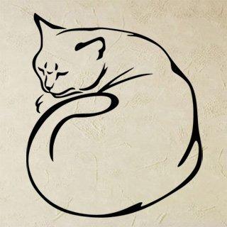 Samolepka na stěnu Kočka 0494 - 120x140 cm