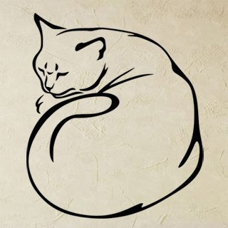 Samolepka Kočka 0494 - 86x100 cm