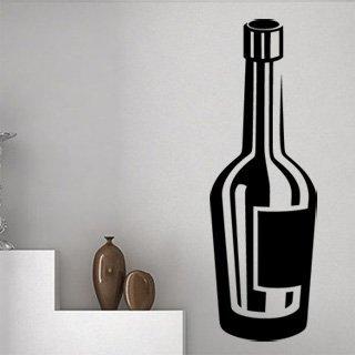 Samolepka na zeď Lahev vína 0079 - 40x120 cm
