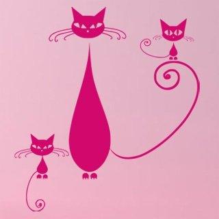 Samolepící dekorace Kočka 009 - 100x111 cm