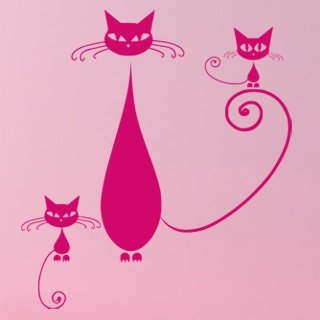Samolepka Kočka 009 - 80x89 cm