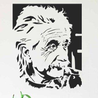 Nálepka na zeď Albert Einstein 001 - 120x148 cm