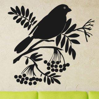 Samolepící dekorace Ptáci na větvích 003 - 120x112 cm