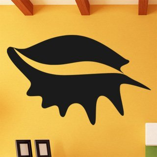 Samolepka na stěnu Mušle 0291 - 192x120 cm