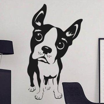 Samolepka na stěnu Bostonský teriér 003 - 120x209 cm