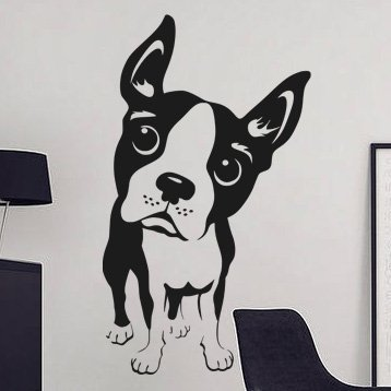 Samolepka na zeď Bostonský teriér 003 - 60x105 cm