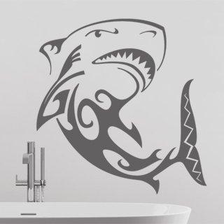 Samolepka na zeď Žralok 003 - 60x62 cm